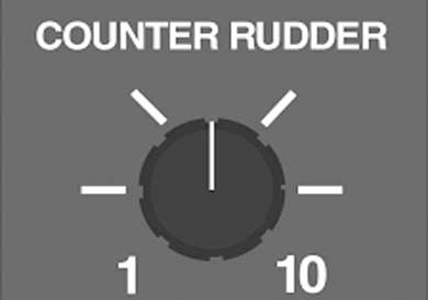 Counter rudder